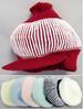 BABY BEANIE - Winter Caps  With Brim & Pom Pom - New Borns