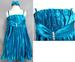 Girls Jewelled Pleated Party DRESS With Headband -  Turquoise