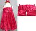 Girls Jewelled Pleated DRESS With Headband - Red