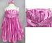 Girls Jewelled Party DRESS With Headband - Rose Color