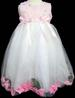 Girls Pageant DRESS With Silk Petals - Sizes: 1-6 - Pink Color
