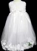 Girlss DRESS With Silk Petals - Sizes: 1-6 -  White Color