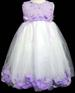 Girla Pageant DRESS With Silk Petals - Sizes: 1-6.  Lavender