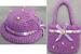 Girls 2Pc Crocheted Hat & PURSE Set - Lavender Color