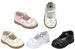 Girls Dress SHOES With Rhinestones -  White Color. Sizes: 1 - 8