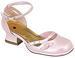''Poppy'' Girls DRESS Shoes With Rhinestones: 10-4 (Erin-38)- Pink