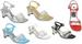 Girls Clear DRESS Shoes With Rhinestones - White (  Pearl-01)
