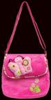 Girls Plush Embroidered HANDBAG With Applique. ( # CP1005)