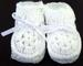 Baby Knitted Crochet Booties - White Color - Size: NEW Born