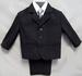 Boys 5Pc DRESS Suits  - Charcoal Grey - Sizes: 1-3  (# 5956CG)