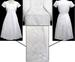 Girls White Communion Embroidered & Beaded DRESS. Sizes:8-16