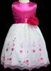 ''Angela'' Girls Embroidered Organza DRESS - Fuchsia