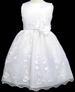 ''Angela'' Girls Embroidered Organza DRESS - White
