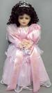 Quinceanera Porcelain  Doll With Rhinestones Tiara - 16'' Tall