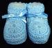 Baby Knitted Crochet Booties - Blue Color - Size: NEW Born