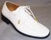 Big Mens Tuxedo SHOES - Stitched Style - White - C Run