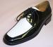 Big Mens Tuxedo SHOES - Stitched Style - Black & White - C Run