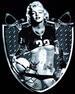 Marilyn Monroe Black T Shirts - Football JERSEY - Raiders