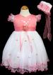 Girls Embroidered Pageant DRESS With  Hat - Coral Color