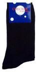 ''Checker'' Mens  Cotton DRESS Socks - Black. Size: 10-13