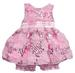 2Pc Sleeveless Pink Sequined DRESS With Flower Appliques