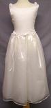 ''Hillary'' Girls Sleeveless  Organza DRESS - White - Sizes: 2 -12