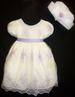 ''Michele'' Girls Couture DRESS & Matching Hat.  Sizes: 6 Mo-4T