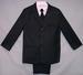 Boys 5Pc Pin-Striped DRESS Suits - Black (Sizes: 16-20)