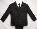 Boys 5Pc Pin-Striped DRESS Suits - Black - Sizes: 4-7 ( # 132B)