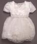 Girls White  Fancy DRESS With Sequins (Sizes: 9-24 Mos)