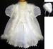 Girls 3Pc Designer Style Christening DRESS With Fur (9-24 Mos)