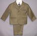 Boys 5Pc Pin-Striped DRESS Suits - Olive Color - 6-9 Mos ( # 132)
