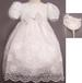 2Pc Christening DRESS With Cutwork Embroidery (Sizes: 0-3)
