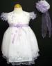 Girls Embroidered  Pageant DRESS & Hat - Lavender (9Mos - 3T)