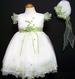 Girls Embroidered  Pageant DRESS & Hat - Sage ( 9Mos - 3T)