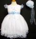 Girls Embroidered  Pageant DRESS & Hat - Baby Blue ( 9Mos - 3T)