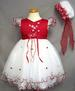 Girls Embroidered Pageant  DRESS With Hat - Red