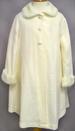 Girls Long Faux Fur COAT - Sizes: 1 Thru 14 (Ivory Color)