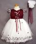 Girls Embroidered Pageant  DRESS With Hat - Burgundy