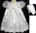 Girls Christening DRESS With Cape & Bonnet  (Sizes: 0-2)