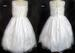 Girls White Flower Girls DRESS With Pearls & Sequins