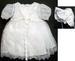 Girls 3Pc Christening DRESSes (Sizes: 9-24 Mos)