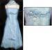 'EVANA II' Girls Fancy DRESS With Scarf - Baby Blue ( 4 - 14)