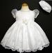 ''Whispers'' Girls Pageant DRESS With Hat - White (Infant)  # 545