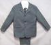 Boys 5Pc Pin-Striped DRESS Suits - Grey -  Sizes: 1-3 ( # 132G)