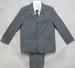 Boys 5Pc Pin-Striped DRESS Suits - Grey - Sizes: 8-14 ( # 132G)