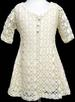 Girls Crochet DRESS With Lining - Ivory Color (Sizes: 8-14)