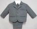 Boys 5Pc Pin-Striped DRESS Suits - Grey Color- 9-24 Mos ( # 132G)