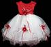 Baby Girl Pageant DRESS - Red Color (Sizes: 9-24 Mos)