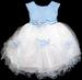 Baby Girl Pageant DRESS - Baby Blue  (9 - 24 Mos)